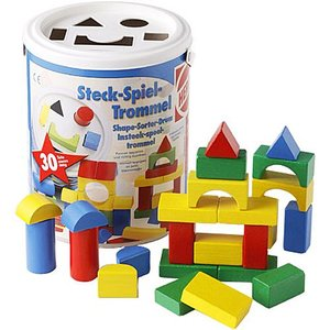 積み木 木のおもちゃ 3歳 4歳 5歳 子供 誕生日プレゼント HEROS 筒入積木 パズル|nicoly