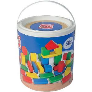 積み木 木のおもちゃ 1歳 2歳 3歳 子供 誕生日プレゼント 赤ちゃん HEROS 筒入積木 50ピース|nicoly