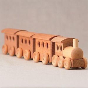 木のおもちゃ 車 木製 赤ちゃん 子供 2歳 3歳 4歳 誕生日プレゼント 客車|nicoly