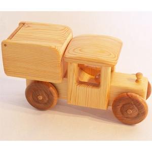 木のおもちゃ 車 2歳 3歳 4歳 子供 誕生日プレゼント 北欧の郵便車 大|nicoly