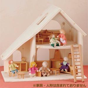 ドールハウスキット 木製 家具 3歳 4歳 5歳 子供 誕生日プレゼント 人形の家 2階建 小|nicoly