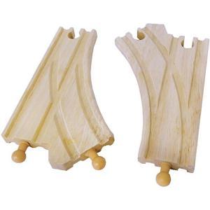 木製レール 木のおもちゃ 3歳 4歳 5歳 子供 誕生日プレゼント メンタリ社 トレインセット アクセサリー Jジャンクション 2本|nicoly
