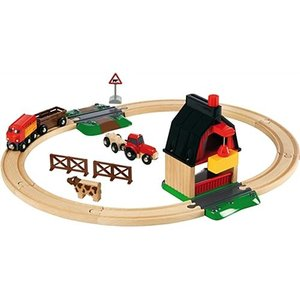 木製レール 3歳 4歳 5歳 子供 誕生日プレゼント ファームレールセット 木のおもちゃ|nicoly