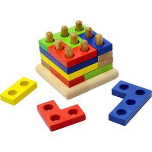 知育玩具 3歳 4歳 5歳 子供 誕生日プレゼント 木のおもちゃ スタッキング ジグソーズ nicoly