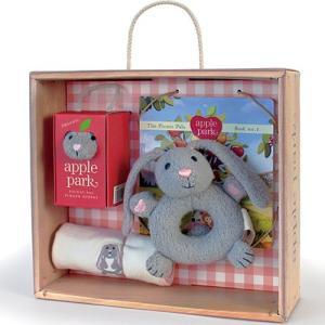 がらがら おもちゃ 0歳 1歳 誕生日プレゼント ベビーギフトボックスセット うさぎ|nicoly