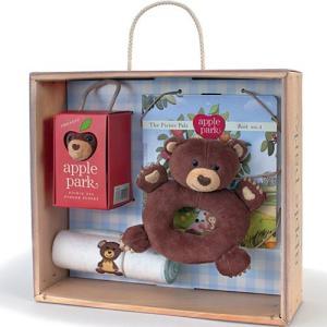 がらがら おもちゃ 0歳 1歳 誕生日プレゼント ベビーギフトボックスセット くま|nicoly