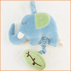 オルゴール 赤ちゃん おもちゃ 0歳 1歳 誕生日プレゼント ミュージカルトイ エレファント ブルー|nicoly