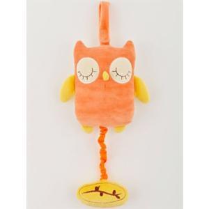 布 おもちゃ 0歳 1歳 誕生日プレゼント オルゴール ミュージカルトイ ふくろう オレンジ|nicoly