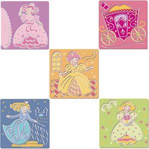 お絵かきセット 4歳 5歳 6歳 子供 誕生日プレゼント ステンシル プリンセス|nicoly