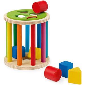 積み木 木のおもちゃ 1歳 2歳 3歳 子供 誕生日プレゼント 赤ちゃん 型はめロール|nicoly