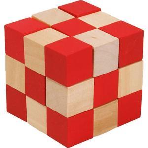 知育玩具 5歳 6歳 子供 誕生日プレゼント 木のおもちゃ ダイスキューブ・大 レッド