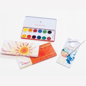 絵の具 お絵かき 子供 水彩絵の具 13色缶|nicoly
