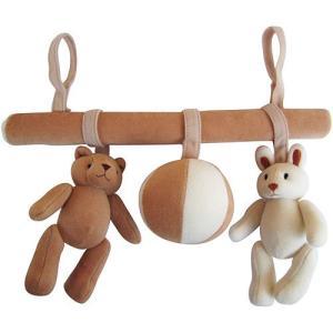 ベビーカー 赤ちゃん お出かけおもちゃ 0歳 1歳 誕生日プレゼント ベッド&バギーチェーン|nicoly