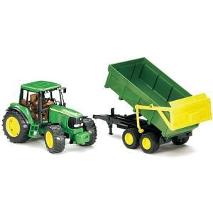 車のおもちゃ 3歳 4歳 5歳 子供 誕生日プレゼント JD6920 トラクター&グリーントレーラー|nicoly