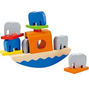 知育玩具 3歳 4歳 5歳 子供 誕生日プレゼント 木のおもちゃ バランスぞうさん|nicoly