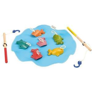 木のおもちゃ 3歳 4歳 5歳 子供 誕生日プレゼント さかなつり|nicoly
