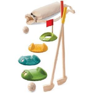 木のおもちゃ 3歳 4歳 5歳 子供 誕生日プレゼント ミニゴルフ フルセット|nicoly
