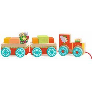 積み木 木のおもちゃ 1歳 2歳 3歳 子供 誕生日プレゼント 赤ちゃん ジュンゾートレイン|nicoly