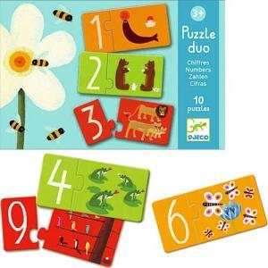 知育玩具 3歳 4歳 5歳 子供 誕生日プレゼント パズルデュオ ナンバーズ|nicoly