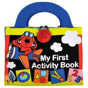 知育玩具 布絵本 赤ちゃん おもちゃ 子供 0歳 1歳 2歳 誕生日プレゼント ファースト・アクティビティー・ブック|nicoly