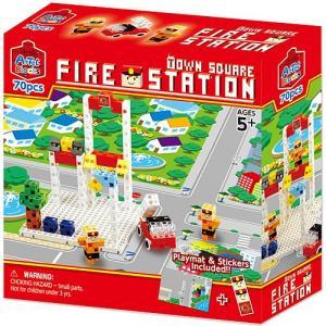 おもちゃ 知育玩具 子供 誕生日プレゼント 男の子 女の子 アーテックブロック タウン スクエア ファイアステーション|nicoly