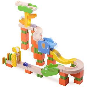 ボール転がし 積み木 Trix Trackサファリトラック 3歳 4歳 5歳 木のおもちゃ 木製 子供 誕生日プレゼント 男の子 女の子|nicoly