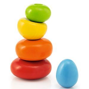 知育玩具 1歳 2歳 3歳 木のおもちゃ 誕生日プレゼント ぐらぐらストーン 木製赤ちゃん ベビー 男の子 女の子|nicoly