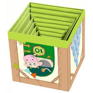 知育玩具 1歳 2歳 3歳 誕生日プレゼント スタックキューブ・どうぶつ 赤ちゃん 男の子 女の子|nicoly