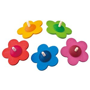こま 4歳 5歳 6歳 木のおもちゃ 花こま 誕生日プレゼント 男の子 女の子|nicoly