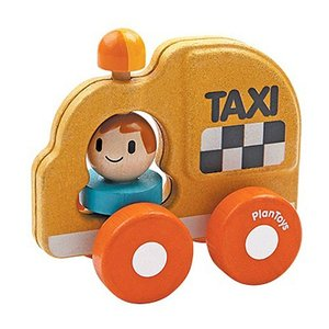 車のおもちゃ 木のおもちゃ 誕生日プレゼント タクシー 木製 子供 男の子 1歳 2歳 3歳|nicoly