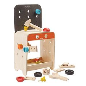 大工 おもちゃ 工具 知育玩具 大工さん ワークベンチ 木のおもちゃ 木製 誕生日プレゼント 男の子 女の子 3歳 4歳 5歳|nicoly