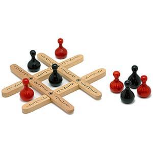 ボードゲーム 知育玩具 誕生日プレゼント ティク・タク・トー・ナチュラル 6歳 小学生 子供 男の子 女の子|nicoly