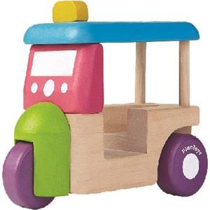 車 木のおもちゃ トゥクトゥク|nicoly