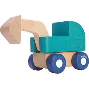 車 木のおもちゃ ミニショベルカー|nicoly
