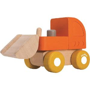 車 木のおもちゃ ミニブルドーザー|nicoly