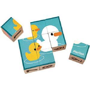 知育玩具 木のおもちゃ パズルキューブ|nicoly