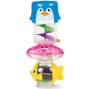 お風呂のおもちゃ 子供 赤ちゃん プール 誕生日プレゼント  ペンギンで水をすくうと、水がクルクル流...