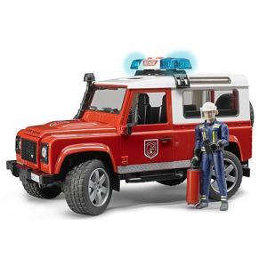 Land Rover Def. ワゴン消防カスタム(フィギア付) 車のおもちゃ 消防車 砂場|nicoly