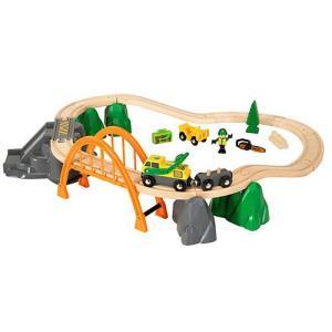 木製レール 電車 木のおもちゃ BRIO ブリオ ランバー レールセット|nicoly