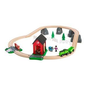 木製レール 電車 木のおもちゃ BRIO ブリオ カントリーサイドホースセット|nicoly