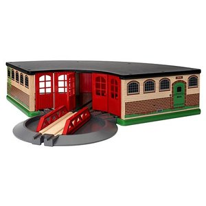木製レール 電車 木のおもちゃ BRIO ブリオ 大型車庫|nicoly