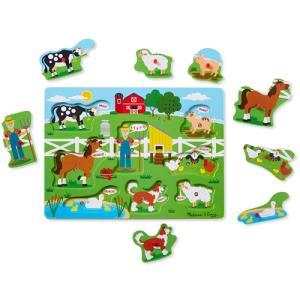 知育玩具 パズル 幼児 サウンドペグパズル マクドナルド農場