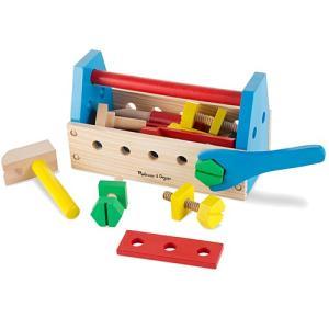 大工 工具 木のおもちゃ 知育玩具 持ち運び工具セット|nicoly