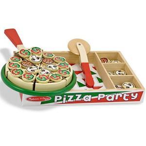 ままごと キッチン 木のおもちゃ ピザパーティー|nicoly
