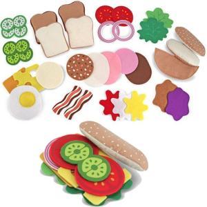 ままごと キッチン フェルト サンドイッチセット|nicoly