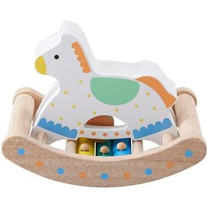 知育玩具 木のおもちゃ カランコロン木馬 nicoly