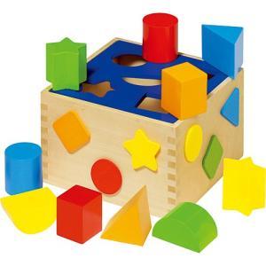 積み木 ブロック 木のおもちゃ 木製 ソートボックス|nicoly