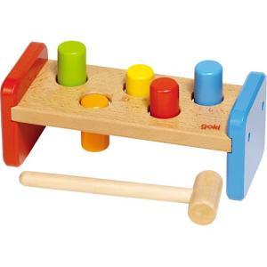木のおもちゃ 赤ちゃん 木製 ハンマーベンチ|nicoly