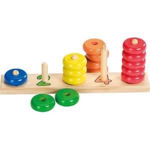 知育玩具 木のおもちゃ 数字 数 ラーニング カウント ウィズ リングス|nicoly