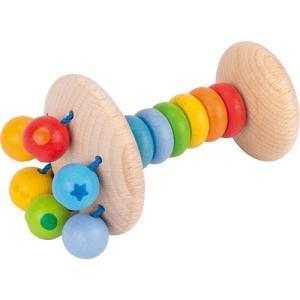 がらがら 木のおもちゃ 赤ちゃん レインボーラトル ボールズ&ビーズ nicoly